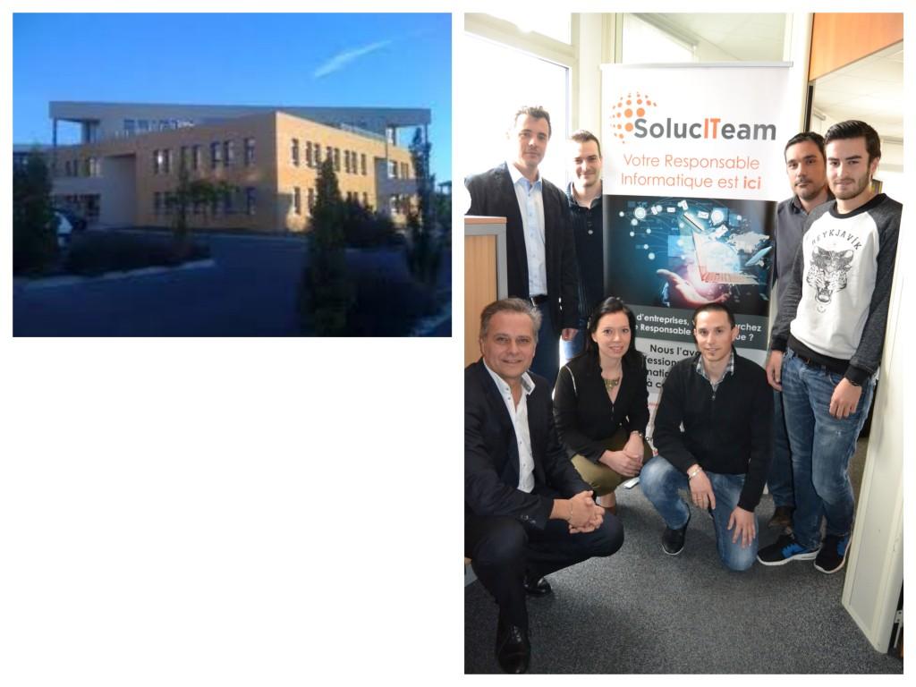 Equipe d'informaticiens - Siège social SolucITeam